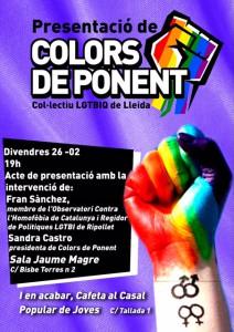 Acte de presentació de Colors de Ponent @ Sala Jaume Magre (IME) | Lleida | Catalunya | Espanya