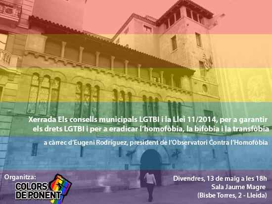 Xerrada sobre Consells municipals LGTBI i Llei 11/2014
