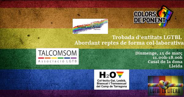Trobada d'entitats LGTBI a Lleida diumenge dia 15