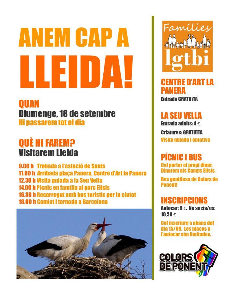 Trobada de famílies LGTBI, el dia 18 a Lleida